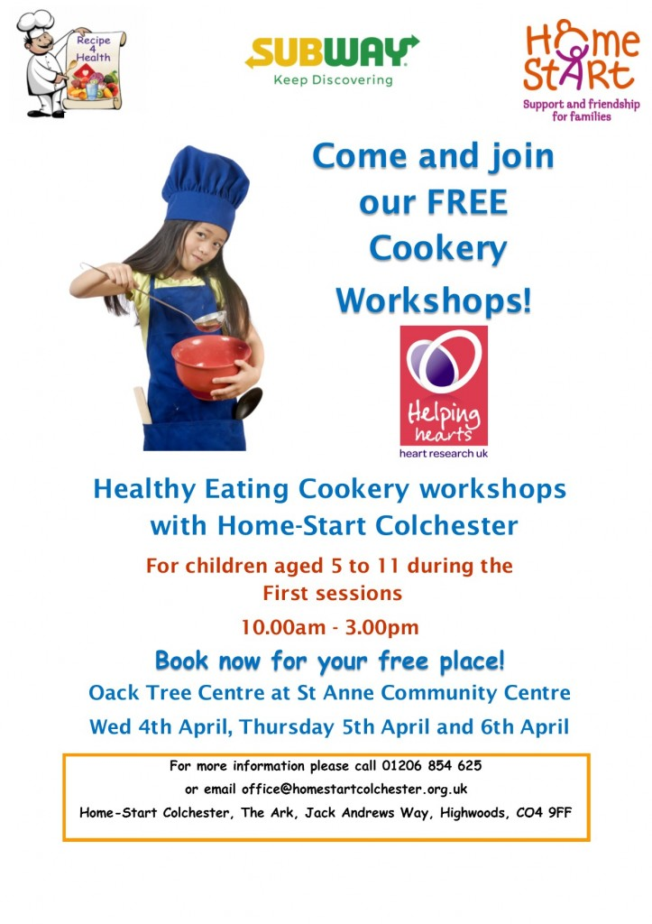 Recipe4health cookery workshop poster18 St Annes